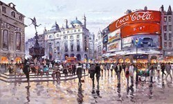Love Affair with London by Henderson Cisz - Canvas on Board sized 33x20 inches. Available from Whitewall Galleries